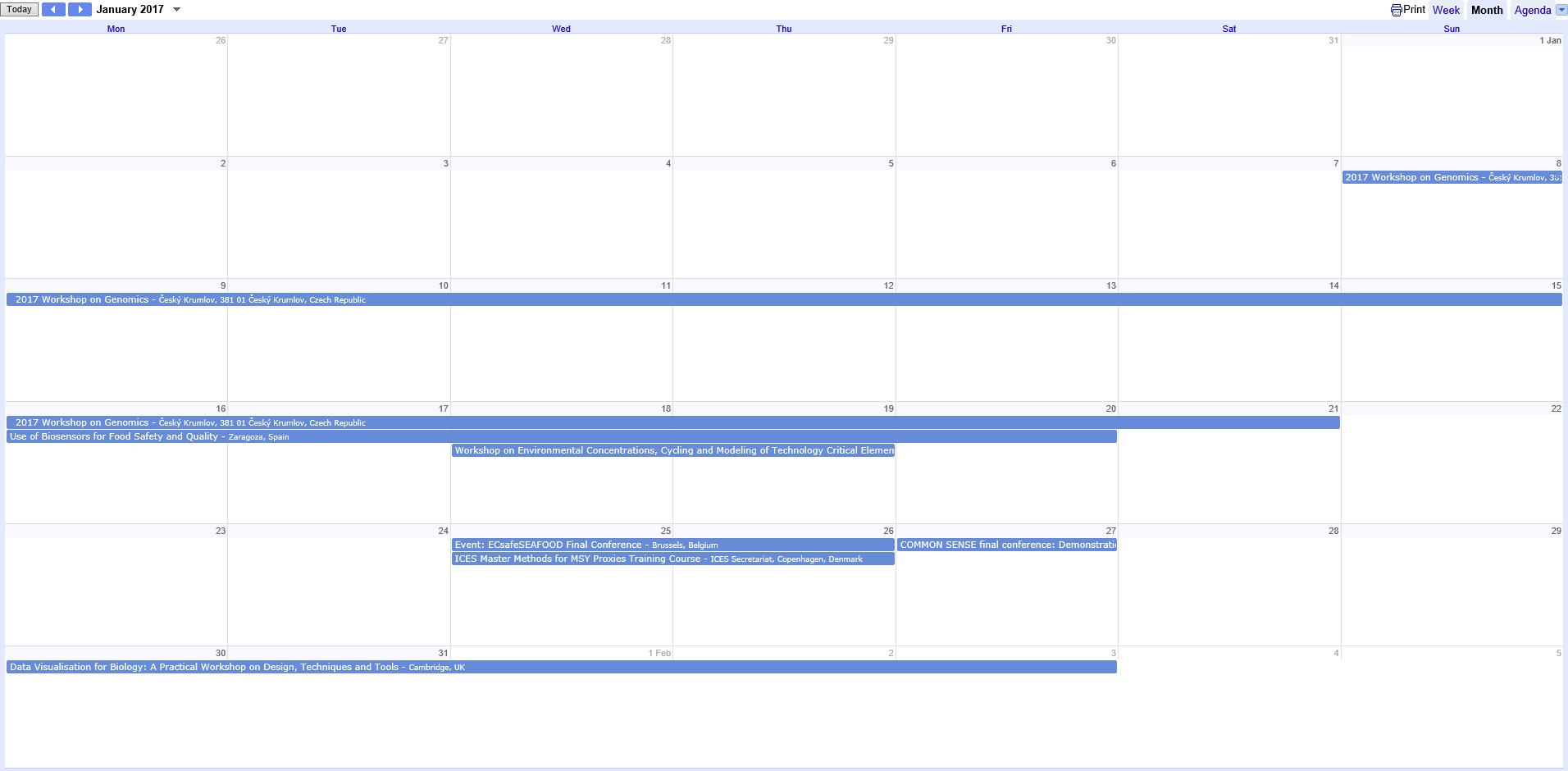 January diary