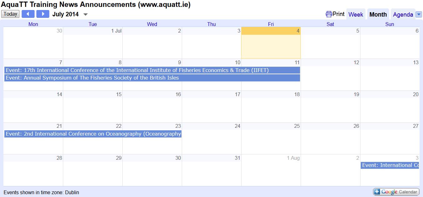 Announcements July 2014 Calendar