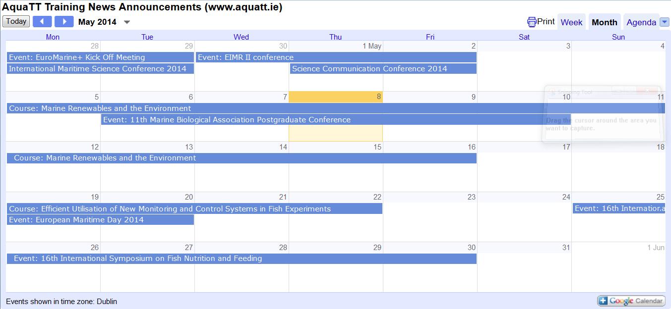 Announcements May 2014 Calendar