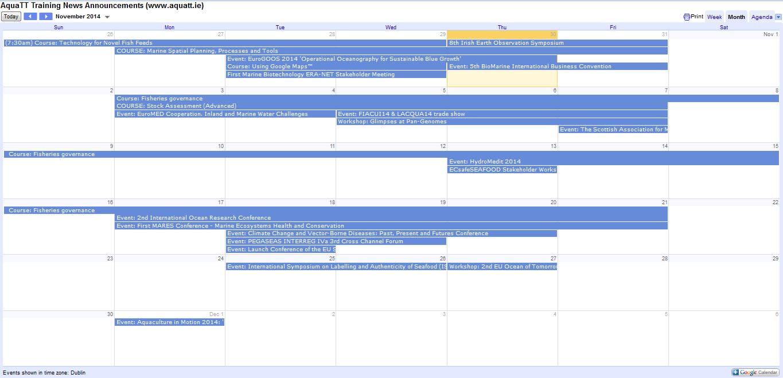 Announcements Nov 2014 Calendar