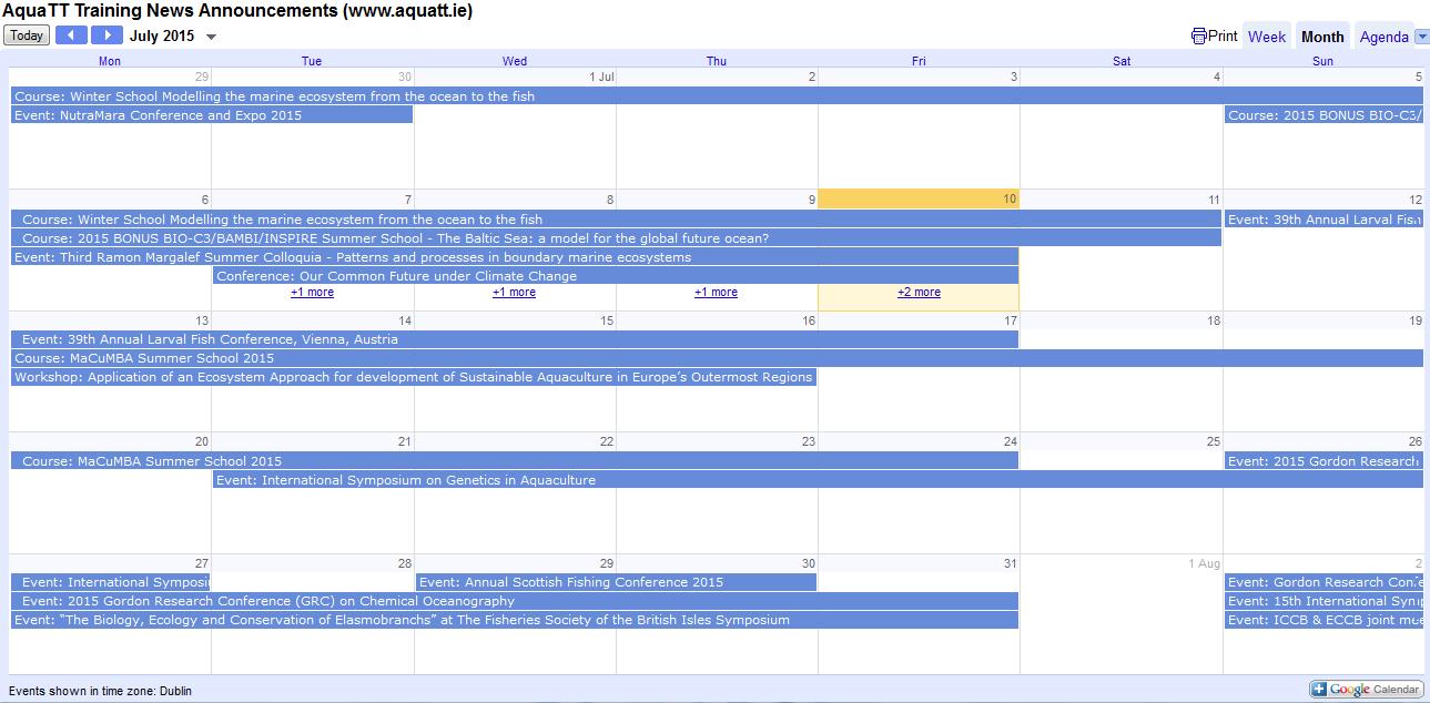Announcements Calendar July 2015