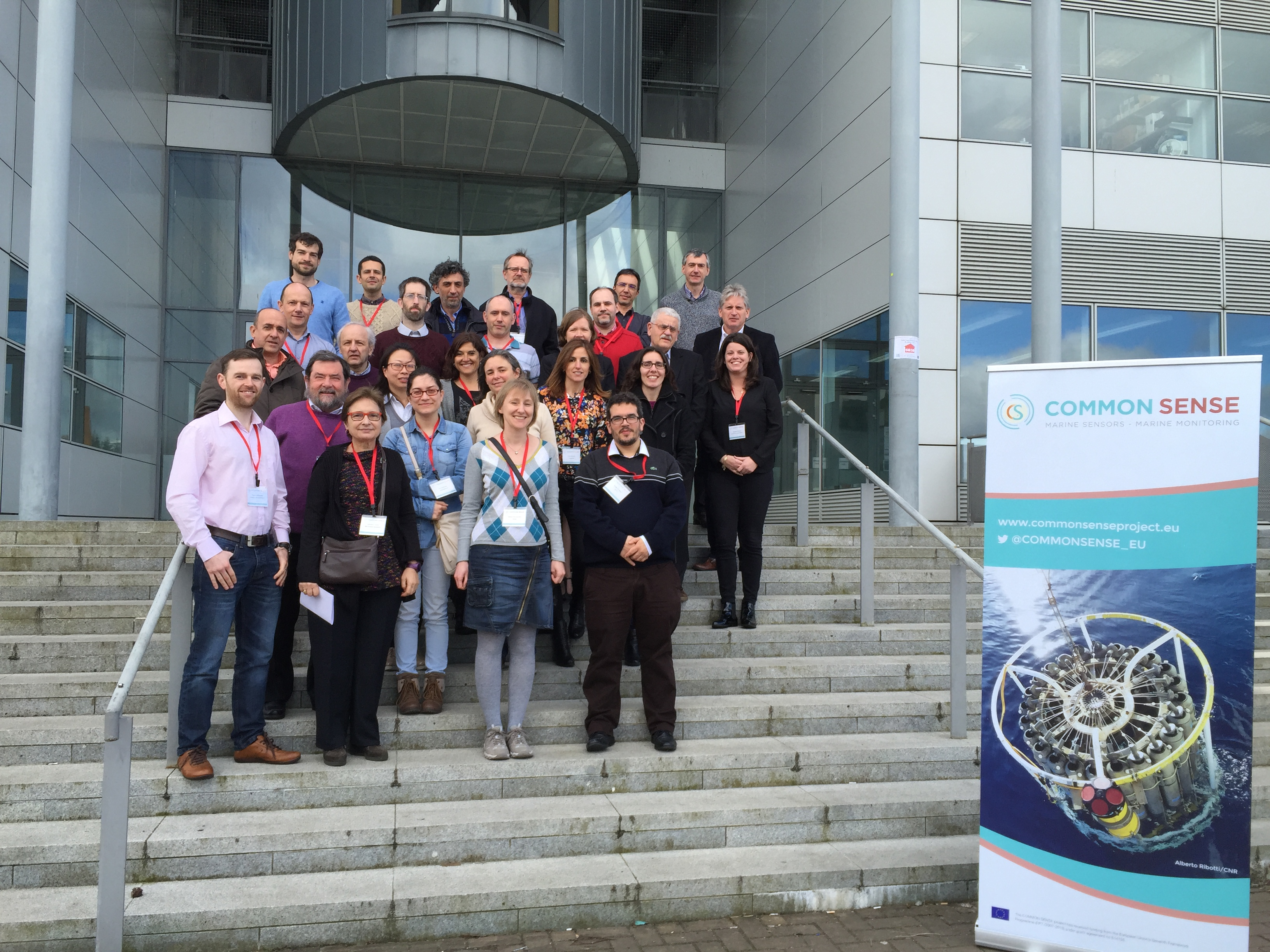 Members of the COMMON SENSE consortium at the projects partner meeting in April 2016 in Dublin Ireland Credit DCU