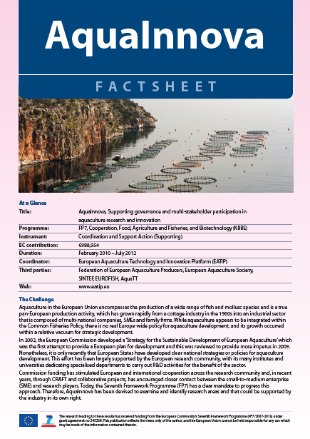 AQUAINNOVA Factsheet