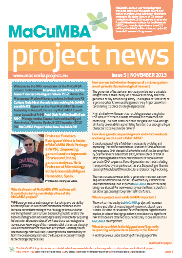 MaCuMBA Newsletter Issue 5